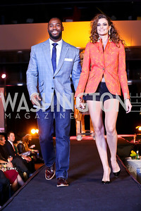 "Washington Redskins wide receiver Pierre Garcon, Charlotte Victorine. Photo by Tony Powell. Becky's Fund ""Walk this Way"" Fashion Show. Italian Embassy. November 8, 2013"