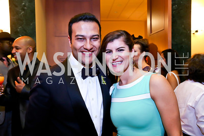 "Faisal Al Enezi, Adisada Dudic. Photo by Tony Powell. Becky's Fund ""Walk this Way"" Fashion Show. Italian Embassy. November 8, 2013"