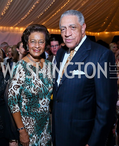 Shirley and Elliot Hall. Photo by Tony Powell. Cafritz Welcome Back from Summer. September 7, 2013