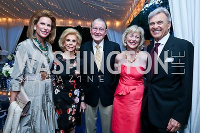Nancy Brinker, Wilma Bernstein, William and Lynda Webster, Stuart Bernstein. Photo by Tony Powell. Cafritz Welcome Back from Summer. September 7, 2013