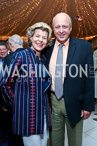Diana and John Negroponte. Photo by Tony Powell. Cafritz Welcome Back from Summer. September 7, 2013