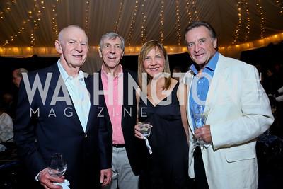 Aaron Fleischman, Lin Lougheed, Barbara Harrison, John Pyles. Photo by Tony Powell. Cafritz Welcome Back from Summer. September 7, 2013