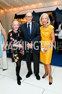 Shannon Fairbanks, Philip and Nina Pillsbury. Photo by Tony Powell. Cafritz Welcome Back from Summer. September 7, 2013