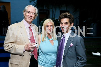 George and Trish Vradenburg, Robert Haft. Photo by Tony Powell. Cafritz Welcome Back from Summer. September 7, 2013