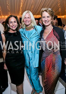 Melissa Moss, Susan Blumenthal, Susan Blumenthal. Photo by Tony Powell. Cafritz Welcome Back from Summer. September 7, 2013