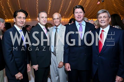 Said Jawad, Arturo Sarukhan, Michael Chertoff, Bruce Bradley, Bob Kogod. Photo by Tony Powell. Cafritz Welcome Back from Summer. September 7, 2013