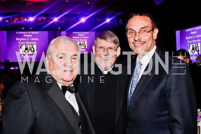 Bob Bennett, Catholic Charities CEO Monsignor John Enzler, Mayor Vincent Gray. Photo by Tony Powell. Catholic Charities Gala 2013. Marriott Wardman Park. April 27, 2013