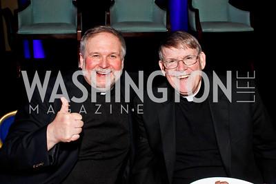Fr. Steve Shafran, Monsignor John Enzler. Photo by Tony Powell. Catholic Charities Gala 2013. Marriott Wardman Park. April 27, 2013