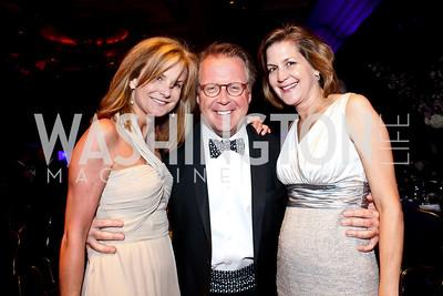 Gail and Jack McKinnon, Susan Cloud. Photo by Tony Powell. Catholic Charities Gala 2013. Marriott Wardman Park. April 27, 2013