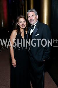 Diana Villarreal, Joe Brickey. Photo by Tony Powell. 2013 CharityWorks Dream Ball. October 5, 2013