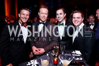 TTRS' Joseph Podulso, Jeff Lockard, Andrew Smith, Adam Glickman. Photo by Tony Powell. 2013 CharityWorks Dream Ball. October 5, 2013