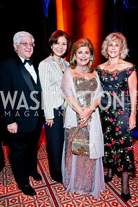 Steve and Keiko Kaplan, Annie Totah, Janet Barnett. Photo by Tony Powell. 2013 CharityWorks Dream Ball. October 5, 2013