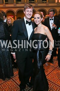 Bill and Pilar O'Leary. Photo by Tony Powell. 2013 CNMC Ball. Building Museum. May 11, 2013