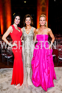 Amy Baier, Norah O'Donnell, Susanna Quinn. Photo by Tony Powell. 2013 CNMC Ball. Building Museum. May 11, 2013