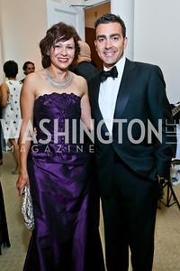 Natalia and Antonio Monteiro. Photo by Tony Powell. 2013 CNMC Ball. Building Museum. May 11, 2013