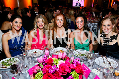 Jennifer Sheridan, Callie Nierenberg, Megan Britton, Kristin Rae Cecchi, Clara Brillembourg Chopivsky. Photo by Tony Powell. 2013 CNMC Ball. Building Museum. May 11, 2013