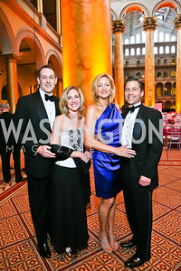 Joe and Catherine Hall, Sarah and Barnaby Crahan. Photo by Tony Powell. 2013 CNMC Ball. Building Museum. May 11, 2013