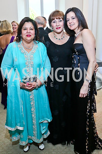 Shaista Mahmood, Cidalia Akbar, Stephanie Fateh. Photo by Tony Powell. 2013 CNMC Ball. Building Museum. May 11, 2013