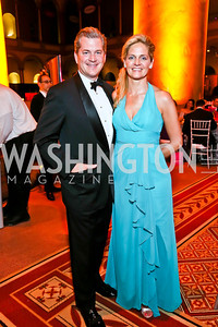 Nels and Kristen Olson. Photo by Tony Powell. 2013 CNMC Ball. Building Museum. May 11, 2013
