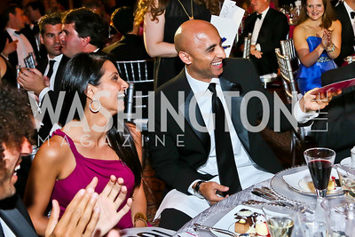 Abeer Shoukry and UAE Amb. Yousef Al Otaiba. Photo by Tony Powell. 2013 CNMC Ball. Building Museum. May 11, 2013