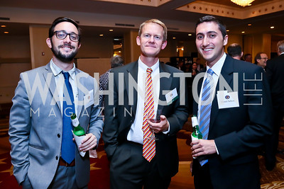 Tomer Hasson, Tim Male, Dan Schory. Photo by Tony Powell. Defenders of Wildlife Conservation Awards Dinner. Capitol Hilton. September 19, 2013