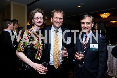 Carolyn Haggis, William Ricker, Robert Dewey. Photo by Tony Powell. Defenders of Wildlife Conservation Awards Dinner. Capitol Hilton. September 19, 2013