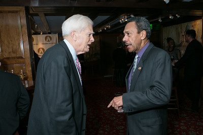 Dr. James Billington, Rep. Melvin L. Watt. 2013 GRAMMYs on the Hill Awards. The Hamilton. April 17, 2013.