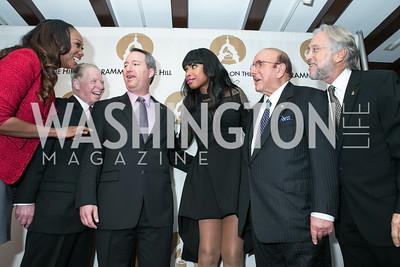 Yolanda Adams, Pat Collins, Daryl Friedman, Jennifer Hudson, Clive Davis, Neil Portnow. 2013 GRAMMYs on the Hill Awards. The Hamilton. April 17, 2013