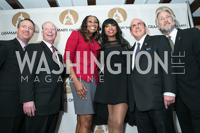 Pat Collins, Daryl Friedman, Yolanda Adams, Jennifer Hudson, Clive Davis, Neil Portnow. 2013 GRAMMYs on the Hill Awards. The Hamilton. April 17, 2013