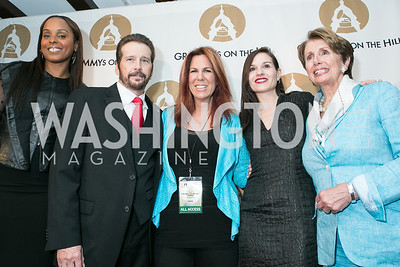 Angela Hunte, George Flanigan, Victoria Shaw, Kara DioGuardi, Rep. Nancy Pelosi . 2013 GRAMMYs on the Hill Awards. The Hamilton. April 17, 2013.