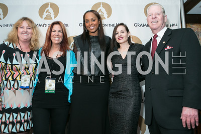 Linda Lorence Critelli, Victoria Shaw, Angela Hunte, Kara DioGuardi, Pat Collins . 2013 GRAMMYs on the Hill Awards. The Hamilton. April 17, 2013.