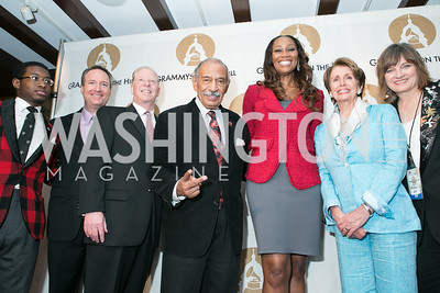 John Conyers III, Daryl Friedman, Pat Collins, Rep. John Conyers Jr., Yolanda Adams, Rep. Nancy Pelosi, Christine ALbert. 2013 GRAMMYs on the Hill Awards. The Hamilton. April 17, 2013.