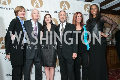 Kristen Madson, Dr. James Billington, Kara DioGuardi,  Neil Portnow, Victoria Shaw, Angela Hunte. 2013 GRAMMYs on the Hill Awards. The Hamilton. April 17, 2013