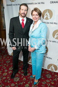 George Flanigan, Rep. Nancy Pelosi. 2013 GRAMMYs on the Hill Awards. The Hamilton. April 17, 2013