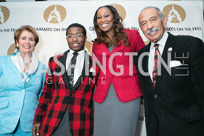Rep. Nancy Pelosi, John Conyers III, Yolanda Adams, Rep. John Conyers Jr. 2013 GRAMMYs on the Hill Awards. The Hamilton. April 17, 2013.