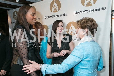 Angela Hunte, Kara DioGuardi, Rep. Nancy Pelosi . 2013 GRAMMYs on the Hill Awards. The Hamilton. April 17, 2013.