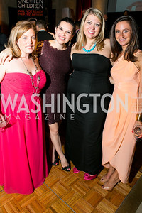 Lisa Lundford, Morgan Foster, Caroline Benne, Amy Slechta. Photo by Alfredo Flores. 2013 Grin Gala. U.S. Chamber of Commerce. May 11, 2013