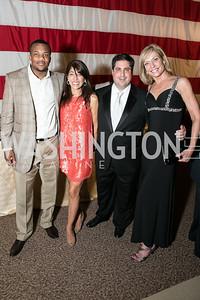 Chris Wilson, Emily Wheeler, Clint Wheeler, Anita Brikman. Photo by Alfredo Flores. 2013 Grin Gala. U.S. Chamber of Commerce. May 11, 2013