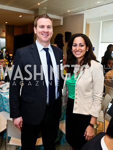 Steven Guilday, Kirsten Fleming. Photo by Tony Powell. 2013 HRC Gala Corporate Sponsor Appreciation Breakfast. May 8, 2013