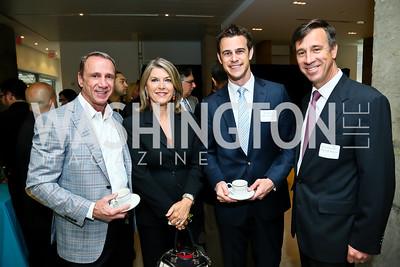 Marriott's Randy Griffin, Kathleen Matthews, Bruce Rohr, Arne Sorenson. Photo by Tony Powell. 2013 HRC Gala Corporate Sponsor Appreciation Breakfast. May 8, 2013