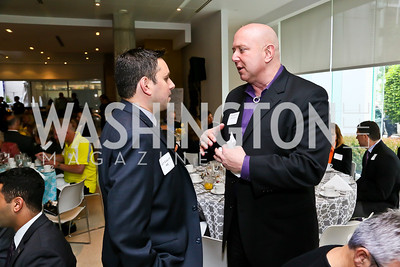 HRC's Justin Giaquinto, Coors' Doug Sanborn. Photo by Tony Powell. 2013 HRC Gala Corporate Sponsor Appreciation Breakfast. May 8, 2013