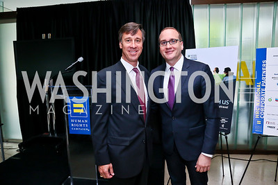 Marriott International President and CEO Arne Sorenson, HRC President and CEO Chad Griffin. Photo by Tony Powell. 2013 HRC Gala Corporate Sponsor Appreciation Breakfast. May 8, 2013