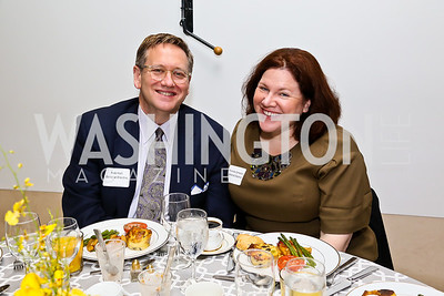 General Electric's Rob Hall, Amanda Campbell. Photo by Tony Powell. 2013 HRC Gala Corporate Sponsor Appreciation Breakfast. May 8, 2013
