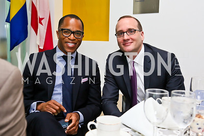 Jonathan Capehart, HRC President and CEO Chad Griffin. Photo by Tony Powell. 2013 HRC Gala Corporate Sponsor Appreciation Breakfast. May 8, 2013