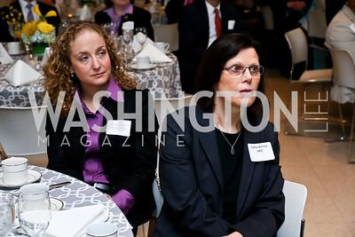 Wells Fargo's Anna Powell, HRC's Cathy Nelson. Photo by Tony Powell. 2013 HRC Gala Corporate Sponsor Appreciation Breakfast. May 8, 2013