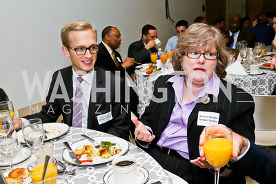 Morgan Stanley's Chris Vaeth, Barbara Murphy. Photo by Tony Powell. 2013 HRC Gala Corporate Sponsor Appreciation Breakfast. May 8, 2013