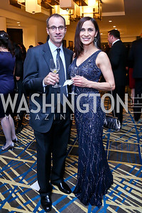 Len Lubrano, Shahla Nejad. Photo by Tony Powell. Heroines in Technology. Hilton McLean Tysons Corner. November 8, 2013