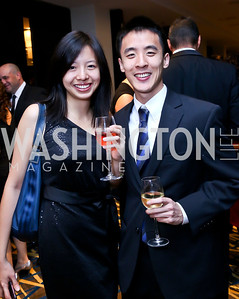 Jennifer Wang, Sam Liu. Photo by Tony Powell. Heroines in Technology. Hilton McLean Tysons Corner. November 8, 2013