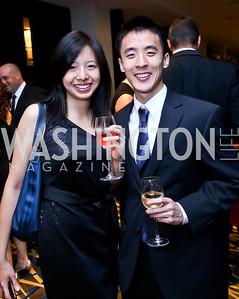 Jennifer Wang, Sam Liu. Photo by Tony Powell. Heroines in Technology. Hilton McLean Tysons Corner. November 8, 2013