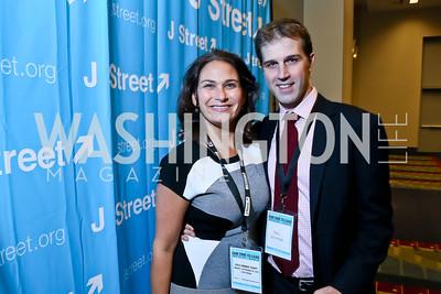 Ilyse Hogue and John Neffinger. Photo by Tony Powell. 2013 J Street Gala Dinner. Convention Center. September 30, 2013